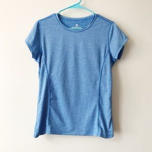 90 Degree By Reflex Blue Athletic Short Sleeve Top